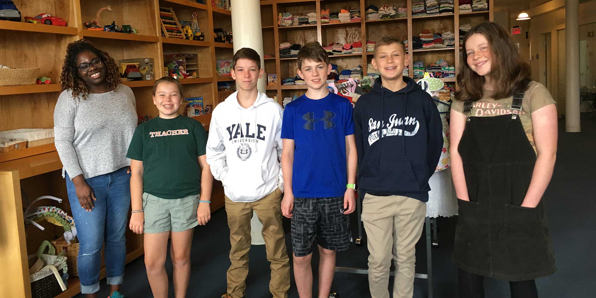 Students volunteer at Room to Grow in Boston