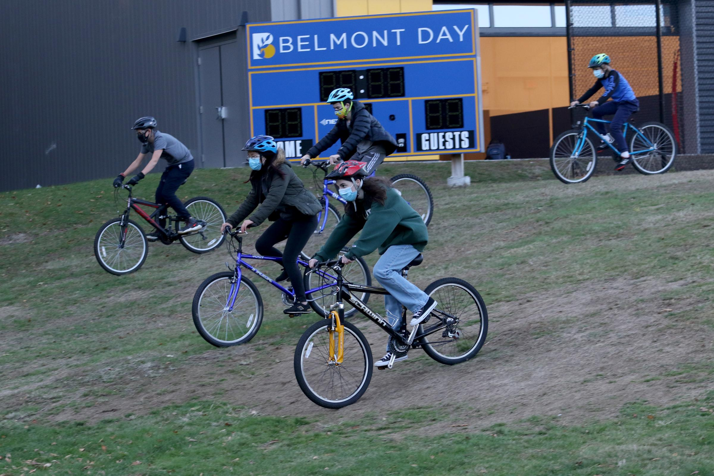 The outdoor adventure group takes to the trail bikes
