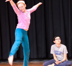 Middle school dancer performs