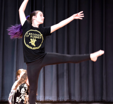 Dance team performs in the PAC