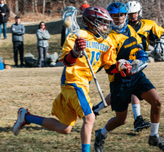 Boys' lacrosse action