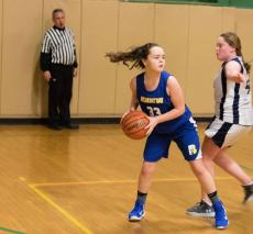 Belmont Day girls' basketball action