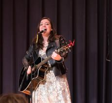 Casey McQuillen performs at Belmont Day