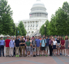 Eighth graders visit the Capitol