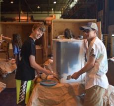 Roots and Shoots work at Furnishing Hope