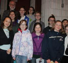 Middle school students at the 2017 Robert Creeley Award Event