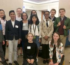 A group of students attend the Model UN Global Leadership Conference