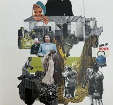 Collage of Images From World War Two