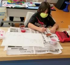 Fifth Grader Painting
