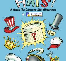 "poster for first and second grade musical ""Hats!"""