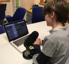 Students explore podcasting