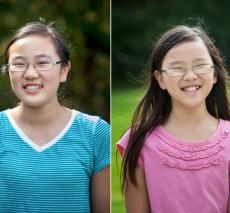 Students Kaeleen and Kendree Chen