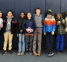 Eight students posing at the Middle School Students of Color Conferernce