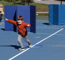 First Graders Playing in Physical Education