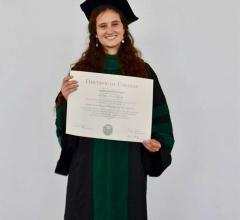 Sierra Starr '04 at her medical school commencement