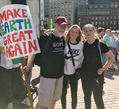 Faculty and alumni gather for the Youth Climate Strike