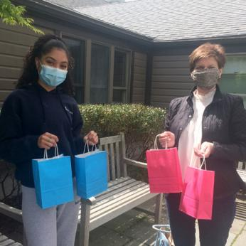 Student Donating Care Packages